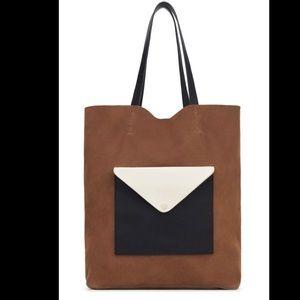 ZARA- new suede colorblock bag. NWT
